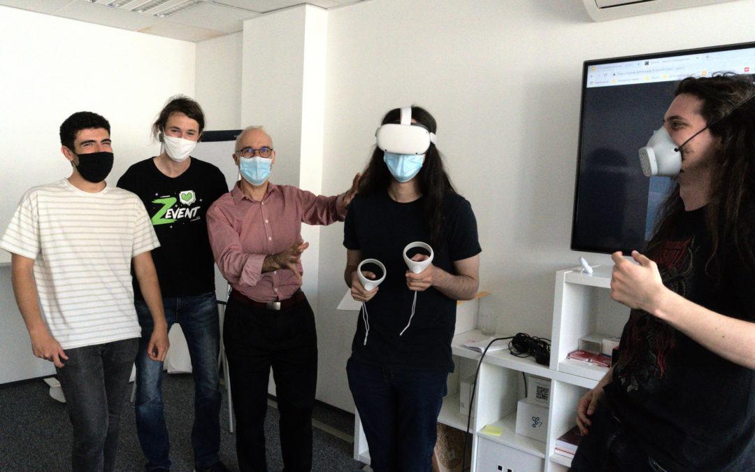 Coaching gagnant des étudiants Grenoble INP-ESISAR pour la VR de Speedernet !